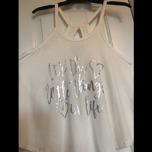 """Tops - """"It's the little things in life"""" tank top"""